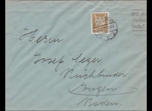 Perfin: Brief aus Stuttgart, 1925, EF