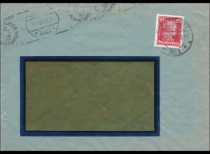 Perfin: Brief aus Stuttgart, 1928, Emil Bandell, EB