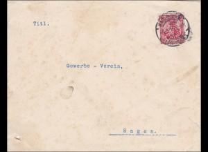 Perfin: Brief aus Karlsruhe, 1914,