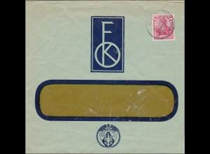 Perfin: Brief aus Kirchheim Teck, 1912,