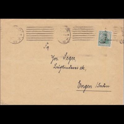 Perfin: Brief nach Engen