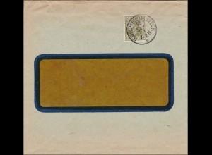 Perfin: Brief aus Kirchheim Teck, Otto Ficker AG, 1921,