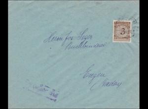Perfin: Brief aus Donauwörth, Pädagogische Stiftung Casstaneum, L.A.