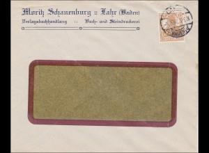 Perfin: Brief aus Lahr, Moritz Schauenburg, 1917 MS