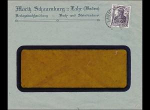 Perfin: Brief aus Lahr, Moritz Schauenburg, MS