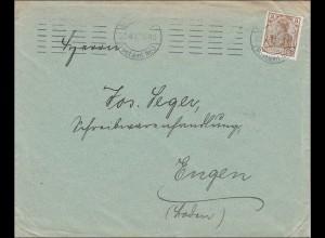 Perfin: Brief aus Stuttgart, 1912,
