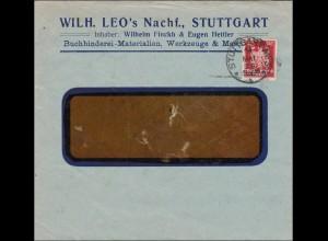 Perfin: Brief aus Stuttgart, 1926, Leos Nachfahren, LEO