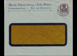 Perfin: Brief aus Lahr, Moritz Schauenburg, 1923, MS