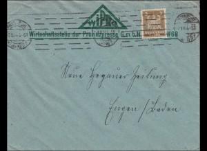 Perfin: Brief aus Frankfurt, 1924, WIPRO, BLA