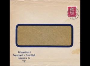 Perfin: Brief aus Konstanz, 1930, Papyrolinwerk,