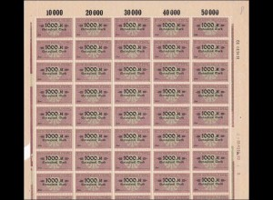 BOGEN: Deutscher Wechselstempel - 1000 Mark, H-Nummer, **