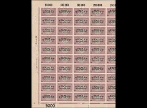 BOGEN: Deutscher Wechselstempel 5000 Mark, **