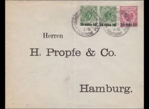 Türkei: Ganzsachenumschlag Constantinopel nach Hamburg 1893