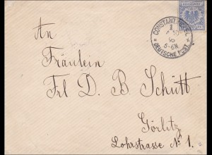 Türkei: Brief aus Constantinopel 1895 nach Görlitz