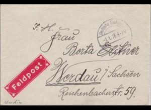 KDJA-Klein Asien, Brief eines Telegraphisten nach Werdau 1980 FELDPOST