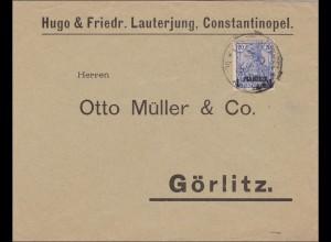 Türkei: Brief von Constantinopel nach Görlitz 1901