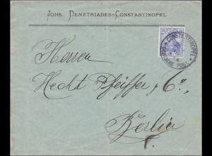 Marokko: Brief von Constantinopel nach Berlin 1906