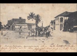 DOA: Ansichtskarte Dar-es-Salaam, 1905 nach Echstädt