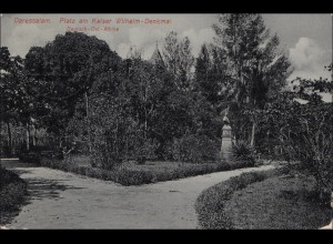 DOA: Ansichtskarte Daressalaam, 1913, Kaiser Wilhelm Denkmal, nach Konstanz