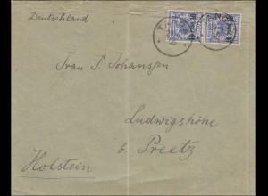 DOA: Brief aus Tanga 1896 nach Holstein/Preetz