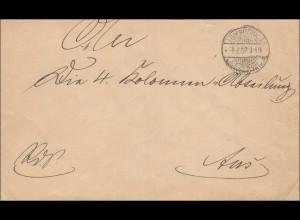DSWA: Brief Lüderitzbucht nach Aus - Kolonialabteilung 1907