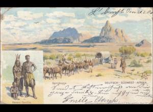 DSWA: Ansichtskarte Lüderitzbucht 1906 nach Weitersweiler bei Neuweiler