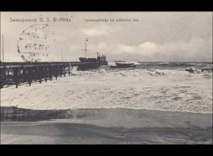 DSWA: Ansichtskarte von Swakopmund nach Rosenheim 1911
