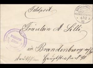 DSWA: Swakopmund nach Brandenburg - Feldpost - Etappenkommandantur 1905