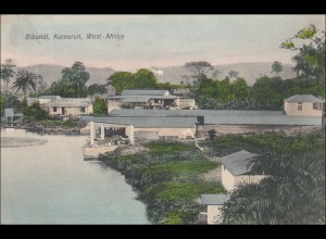Kamerun: Ansichtskarte Bibundi, Longji, 1908 nach Lichtenfelde
