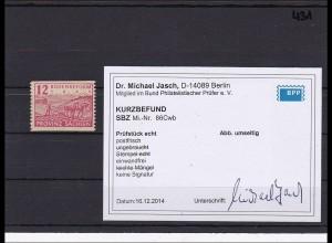 SBZ MiNr. 86 Cwb, ** postfrisch, Kurzbefund BPP Dr. Jasch