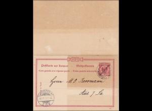 Marshall-Inseln: Ganzsache P8 von Jaluit nach Aue 1912