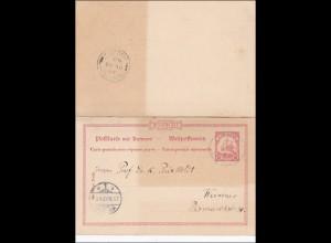 Karolinen: Ganzsache P10F/A von Yap nach Weimar 1907