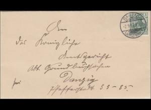 Danzig: Brief Danzig-Lanfuhr 1907