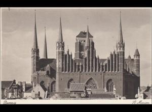 Danzig: Ansichtskarte St. Marien als Feldpost 1941 nach Neukölln