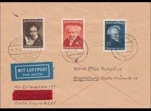 Danzig: Eilboten/Luftpost nach Magdeburg 1938
