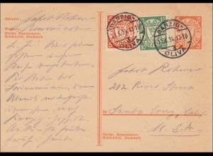 Danzig: Ganzsache 1934 nach USA