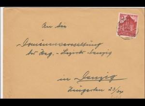 Danzig: Brief Danzig 1940
