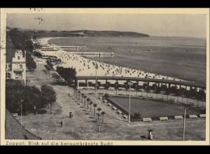 Danzig: Ansichtskarte Zoppot 1939 Sonderstempel