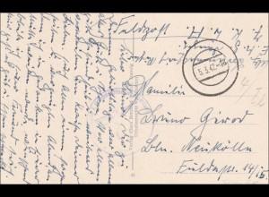 Danzig: Ansichtskarte Pfarrhof, 1942 als Feldpost