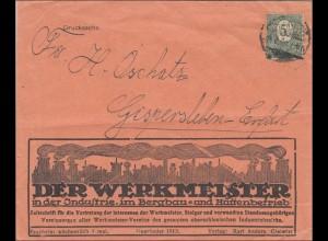 Oberschlesien: Drucksache Brief aus Gleiwitz nach Gispersleben/Erfurt