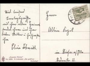 Oberschlesien: Ansichtskarte von Gleiwitz 1921, Liebreich