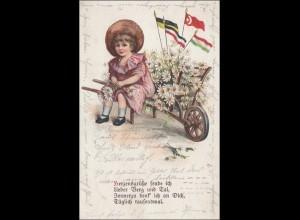 Oberschlesien: Ansichtskarte von Gleiwitz 1921 nach Riesa