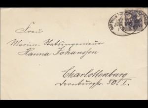 Polen: Karthaus /Westpreussen nach Charlottenburg 1918. Brief mit Inhalt