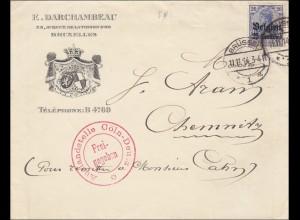 Belgien: Brief aus Brüssel nach Chemnitz, Auslandstelle Freigegeben