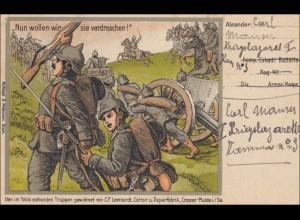 Belgien: Feldpostkarte - Propaganda I. Weltkrieg - von Brüssel 1915