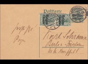 Belgien: Ganzsache von Brüssel 1914