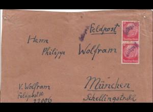 Feldpost II. Weltkrieg: FPNr. 22006 nach München