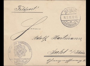 Feldpost I. Weltkrieg: Feldpost Berlin 1916 nach Suhl Hauptkadettenanstalt