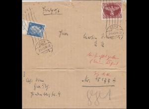 Feldpost II. Weltkrieg: Briefausschnitt von Gera 1943 FPNr. 15177A