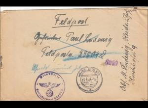 Feldpost II. Weltkrieg: Brief aus Heide/Holstein an FPNr. 29604A 1942 - zurück
